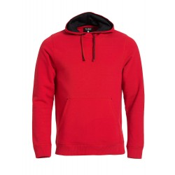 SWEATER CLIQUE 021041 35 CLASSIC HOODY ROOD