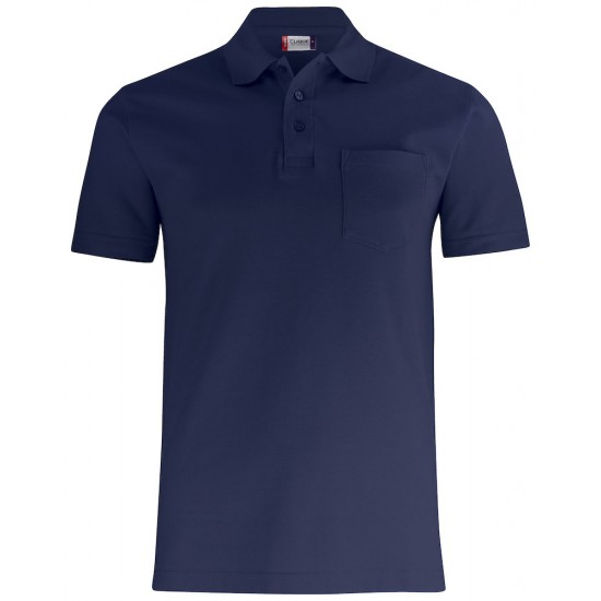 POLOSHIRT CLIQUE BASIC POLO POCKET 028255 580 DARK NAVY Polo korte mouw