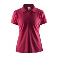 POLOSHIRT CLIQUE CLASSIC W 192467 1469 DONKERROZE