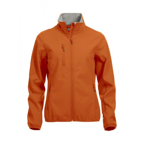 SOFTSHELL CLIQUE BASIC DAMES 020915 18 ORANJE Softshell jacks