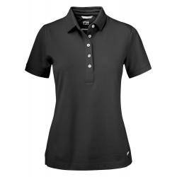 POLOSHIRT CUTTER EN BUCK ADVANTAGE LADIES 354419 99 ZWART