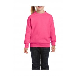 SWEATER GILDAN CREWNECK HEAVYBLEND FOR KIDS 18000B SAFETY PINK
