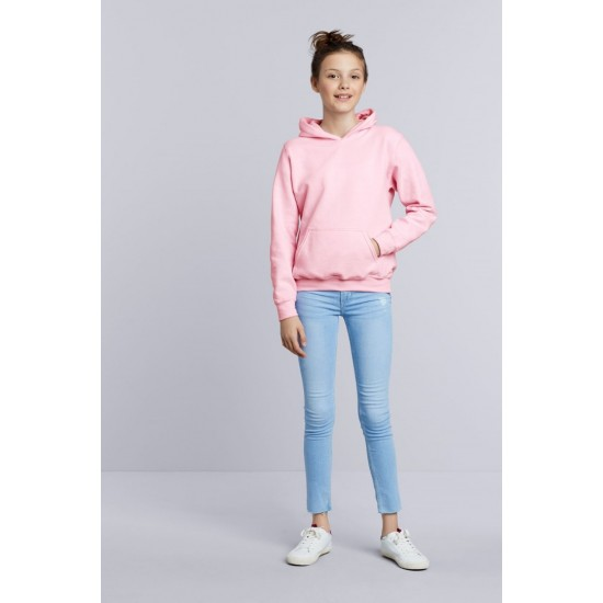 SWEATER GILDAN HOODED HEAVYBLEND FOR KIDS 18500B LIGHT PINK  Sweaters  & Truien