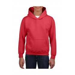 SWEATER GILDAN HOODED HEAVYBLEND FOR KIDS 18500B ROOD
