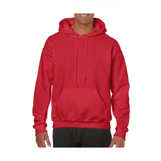 SWEATER GILDAN HOODED HEAVYBLEND 18500 RED Sweaters