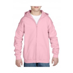VEST GILDAN HOODED HEAVYBLEND FOR KIDS 18600B LIGHT PINK