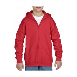 VEST GILDAN HOODED HEAVYBLEND FOR KIDS 18600B ROOD