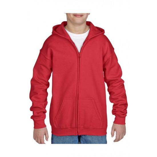 VEST GILDAN HOODED HEAVYBLEND FOR KIDS 18600B ROOD Vest