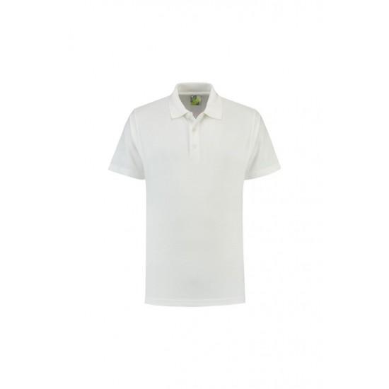 POLOSHIRT L&S PROMO POLO 3500 WHITE Polo korte mouw