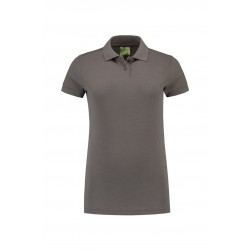 POLOSHIRT L&S BASIC FOR HER 3502 PEARL GREY