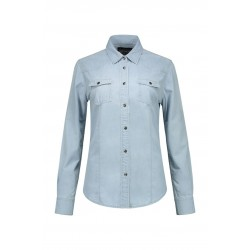 BLOUSE L&S 3950 DENIM SHIRT FOR HER LIGHTBLUE DENIM
