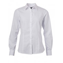 BLOUSE JAMES & NICHOLSON JN677 WIT