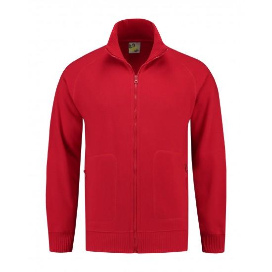 SWEATVEST L&S CARDIGAN 3236 RED Bedrijfskleding bouw & industrie