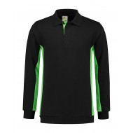 POLOSWEATER L&S WORKWEAR 4700 BLACK LIME