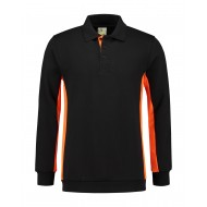 POLOSWEATER L&S WORKWEAR 4700 BLACK ORANGE