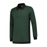 POLOSWEATER L&S WORKWEAR 4700 FORESTGREEN BLACK