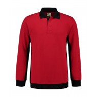 POLOSWEATER L&S WORKWEAR 4700 RED BLACK