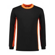 SWEATER L&S WORKWEAR 4750 BLACK ORANGE