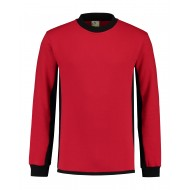 SWEATER L&S WORKWEAR 4750 RED BLACK