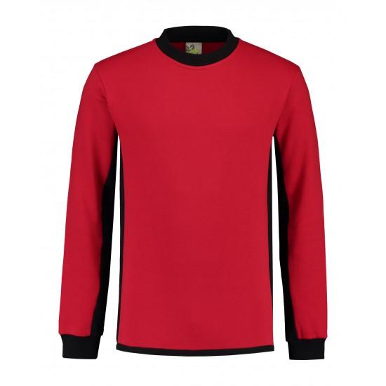 SWEATER L&S WORKWEAR 4750 RED BLACK Bedrijfskleding bouw & industrie