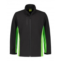 SOFTSHELL JACK L&S WORKWEAR 4800 BLACK LIME