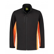 SOFTSHELL JACK L&S WORKWEAR 4800 BLACK ORANGE
