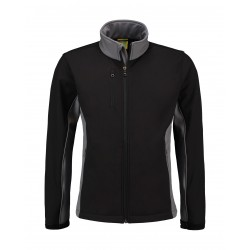SOFTSHELL JACK L&S WORKWEAR 4800 BLACK PEARLGREY