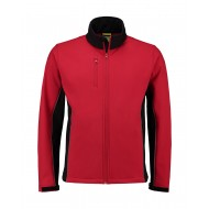 SOFTSHELL JACK L&S WORKWEAR 4800 RED BLACK