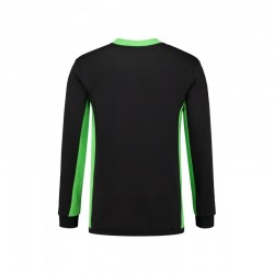 SWEATER L&S 4750 SWEATER WORKWEAR BLACK LIME