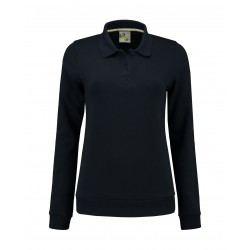 DAMES POLOSWEATER L&S 3209 NAVY