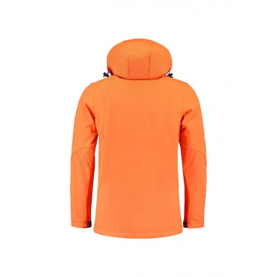 SOFTSHELL L&S 3629 ORANGE JACKET HOODED Softshell jacks