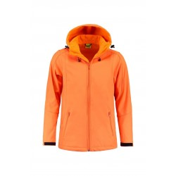 SOFTSHELL L&S 3629 ORANGE JACKET HOODED