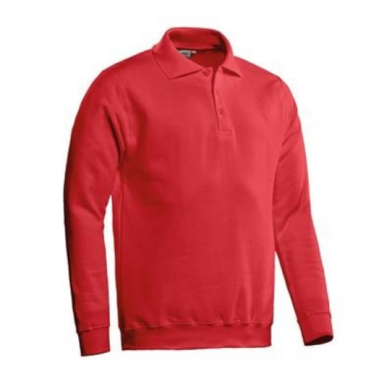 POLOSWEATER SANTINO ROBIN ROOD Bedrijfskleding zorg