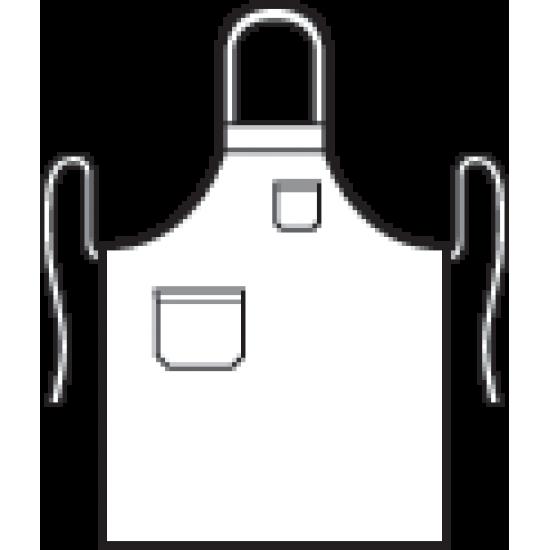 SCHORT SCHRIKS 5012 ROOD Keukenschort