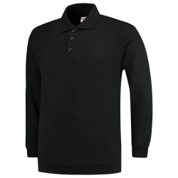 POLOSWEATER MET BOORD TRICORP 301005 PSB280 ZWART