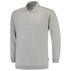 POLOSWEATER MET BOORD TRICORP 301005 PSB280 GRIJSMELEE