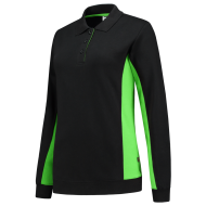 POLOSWEATER TRICORP 302002 ZWART MET LIME