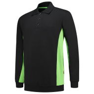 POLOSWEATER TRICORP 302003 ZWART MET LIME
