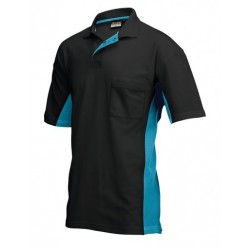 POLOSHIRT TRICORP BICOLOR 202002 TP2000 ZWART MET TURQUOISE