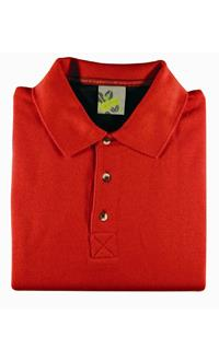 . L&S Sweater Polo collar open for Him .